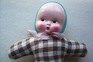 Vtg Antique 40 S To 60 S Cloth Pin Cushion Doll Made In Hungary