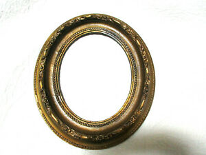 Antique Ornate Art Nouveau Gold Gilded Wood Oval Picture Frame12 1 4 X 14 1 2