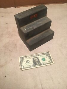 Black Granite Surface Block Stepped Small Starret Machinest Free Shipping