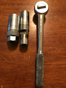 Sk Tools 3pc Ratchet And Spark Plug Sockets 3 8 Dr Usa