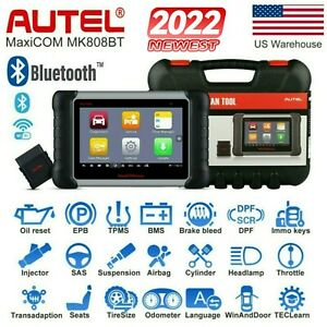 Autel Maxicom Mk808bt Auto Diagnostic Tool Obd2 Scanner Key Program Better Mk808