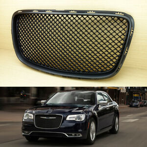 Fit Chrysler 300 300c Front Upper Grill Grille Bentley Style 2015 Matte Black