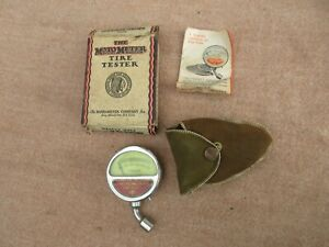 Nos Accessory Balloon Tire Gauge Tester Air Gm Ford Chevy Dodge Vintage Auto