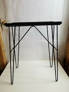 Vintage Wrought Iron Hairpin Leg Aquarium Fish Tank Stand Tv Mcm Table Base