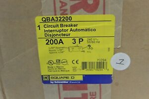 Square D Qba32200 3p 240v 200 Amp I line Circuit Breaker New In Box