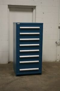Used Stanley Vidmar 8 Drawer Cabinet Industrial Tool Parts Storage 1737 Lista