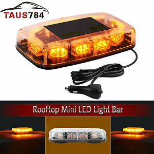 30led Amber Emergency Warning Safety Flashing Strobe Light Bar For Truck Car