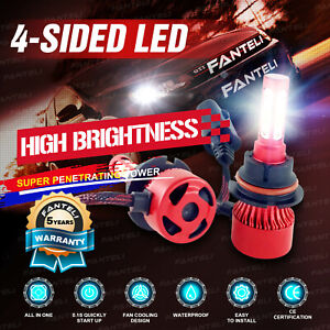 9007 Hb5 4 sided Led Headlight Kit Hi low 315000lm Car Light Bulbs 6000k White