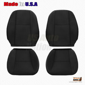 2009 2010 2011 2012 2013 2014 Chevy Silverado Front Cloth Seat Cover Ebony Black