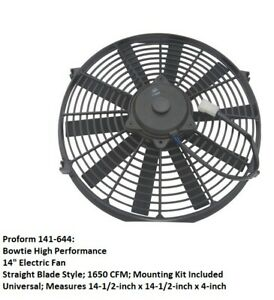 Proform 141 644 Bowtie High Performance 14 Electric Engine Cooling Fan