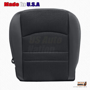 2013 To 2018 Dodge Ram 1500 Sport Passenger Bottom Cloth Leather Seat Cover Blk