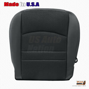 2013 2014 2015 Dodge Ram 1500 Sport Driver Bottom Cloth Leather Seat Cover Black