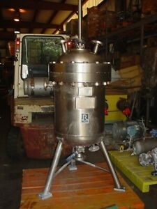35 Gallon Ross 316l Stainless Steel Autoclave Reactor 390 Psi Sweep Mix