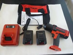 New Snap on 1 2 Dr 18v Lithium Cordless Impact Wrench Kit 2 Batt charger ct8850