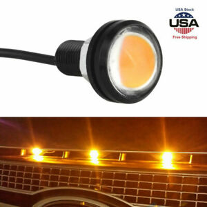 Universal Mini Led Amber Hood Grille Light Bumper For Ford Svt Raptor Truck Suv