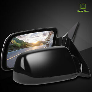 Pair Fits 1988 1998 Gmc Chevy Pickup Truck Manual Fold Black Side View Mirrors