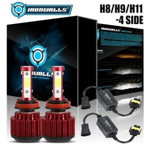 4 Side H11 H9 H8 Cree Hi Or Lo Led Headlight Fog Bulb canbus Decoder Adapter Kit
