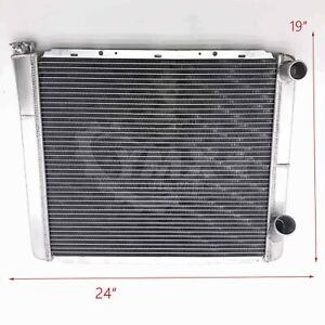 All Aluminum 24 X19 Racing Radiator Fits Gm Chevy Style 2 Row Double Pass