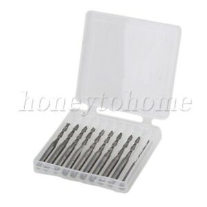 10pcs Cut Spiral Router Bits 3 175mm Shank Cnc End Mill For Wood