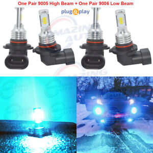 9005 9006 Combo Led Headlight Bulb High Low Beam Performance 35w 8000k Ice Blue