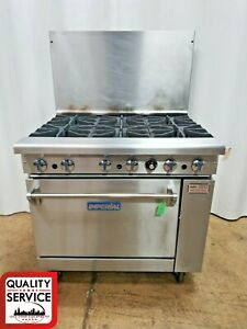 Imperial Ir 6 36 Commercial 6 burner Range With Standard Oven