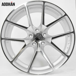 Aodhan Ls007 19x8 5 19x9 5 5x120 35 Silver Bmw 3 Series 5 Series Staggered
