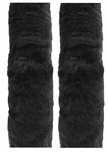 Cutequeen Trading 10 Black Sheepskin Seat Belt Shoulder Pad Cover Pair