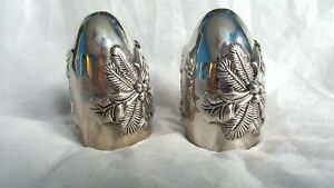 Vintage International Silver Company Salt And Pepper Holly Shaker Set