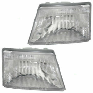 Fit 1998 1999 2000 Ford Ranger Headlight Right Left F87z 13008eb F87z 13008f