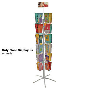 Metal 48 Pocket Wire Literature Display Rack 5 25w X 8 5h Inch With Metal Base