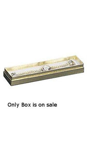 Cotton Filled Jewelry Box In Gold Finish 8 X 2 X 7 8 Inches Case Of 100