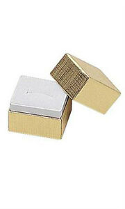 Jewelry Ring Boxes In Gold 1 5 X 1 25 X 1 5 Inches Case Of 50