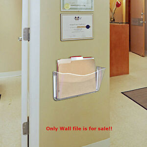 Clear Single Pocket Wall File 14 75w X 3d Inches With Tape pack Of 4