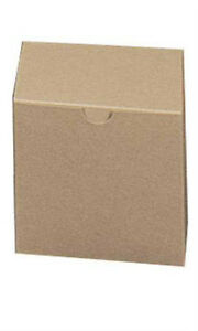 Square Kraft Gift Boxes 4l X 4w X 4d Inches Count Of 100