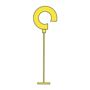 Regular Tagging Fasteners In Yellow 2 Inches Case Of 5000