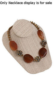 Necklace Bust Display In Linen Finish 6 3 4w X 8l X 3 1 2h Inches