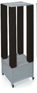 Styrene 4 Tower Pegboard Counter Display In Black 4w X 4d X 48h Inces
