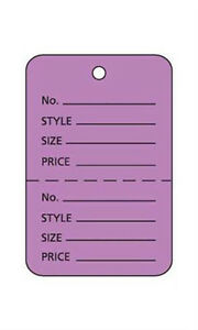 Pack Of 1000 New Retails Small Lavender Unstrung Coupon Price Tags 1 w X 1 h