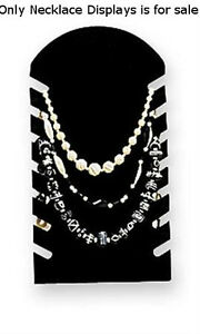 Necklace Display Easels Slotted In Black 7 5 W X 14 H Inches Lot Of 10