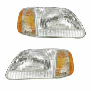 Fit For 1999 2003 Ford F 150 Headlights Corner Lights Pair Right And Left