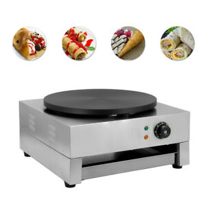 16 commercial Electric Crepe Maker Baking Pancake Machine Big Hotplate Non Stick