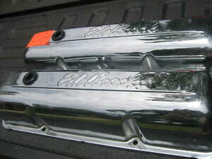 Vintage Edelbrock Ford Fe Valve Covers Chrome Plated With Grommets See Below