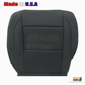 Front Driver Bottom Cloth Seat Cover For 2008 2015 Nissan Titan Charcoal Black