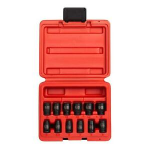 Sunex 1822 1 4 Inch Drive Magnetic Impact Socket Set 12 piece Metric