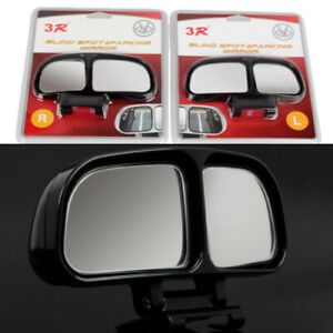 2x Car Rear View Convex Parking Wide Angle Auxiliary Blind Spot Mirror Clips Us