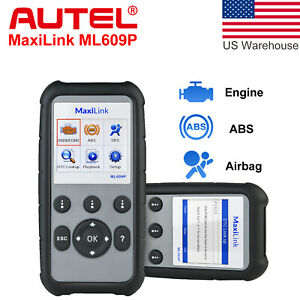 Autel Ml609p Auto Scan Tool Obd2 Code Reader Scanner Abs Srs Airbag Al619 Al609p