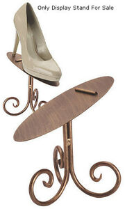 Cobblestone Shoe Display Stand 6 Inch With Rich Cobblestone Finish