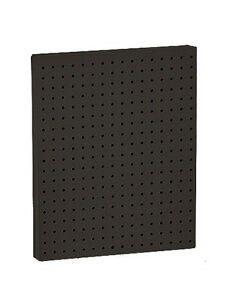 Plastic Pegboard Panel In Black 16w X 20h Inches Count Of 2