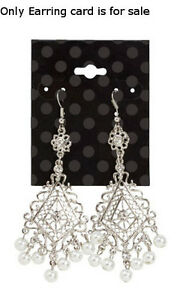Earring Cards Plastic In Black Dots 2 W X 2 5 H Inches Case Of 50