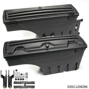 Black Lockable Storage Truck Bed Tool Box Left Right For 2015 2019 Ford F150